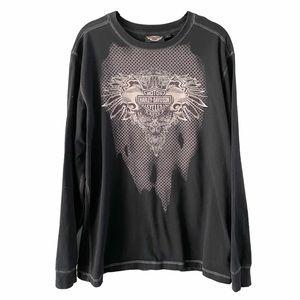 Harley-Davidson Black Long Sleeve Shirt medium